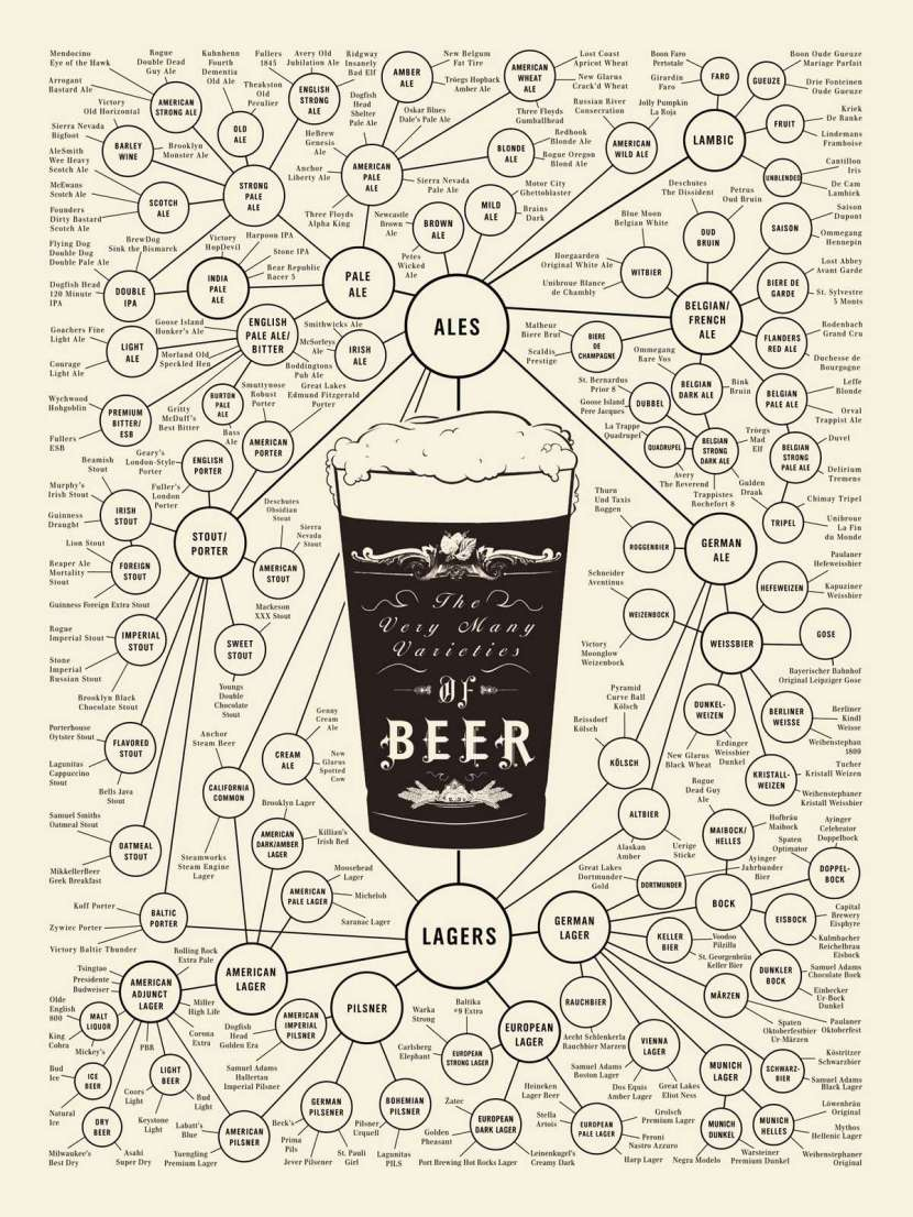 The many varieties of beer